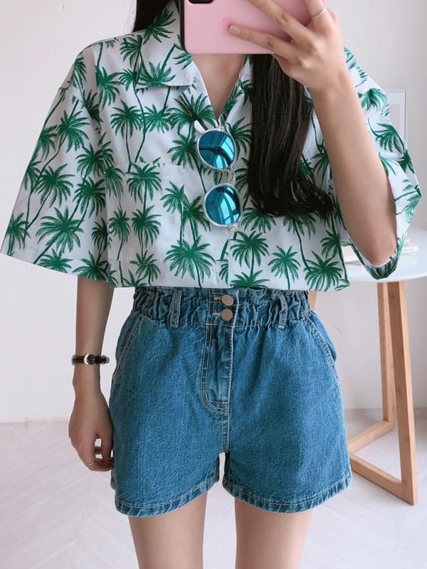 Palm Trees Over Pocket Shirt