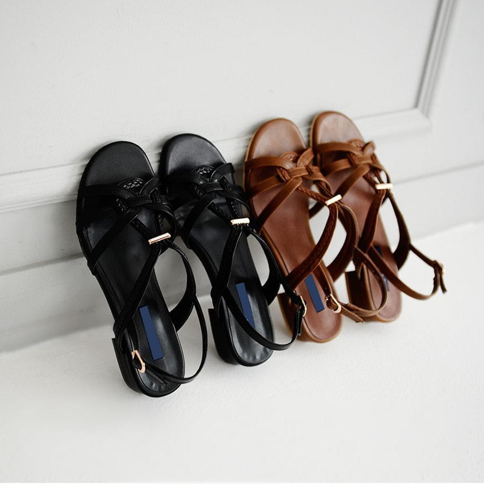 Verodin Sling Back Sandals 3cm