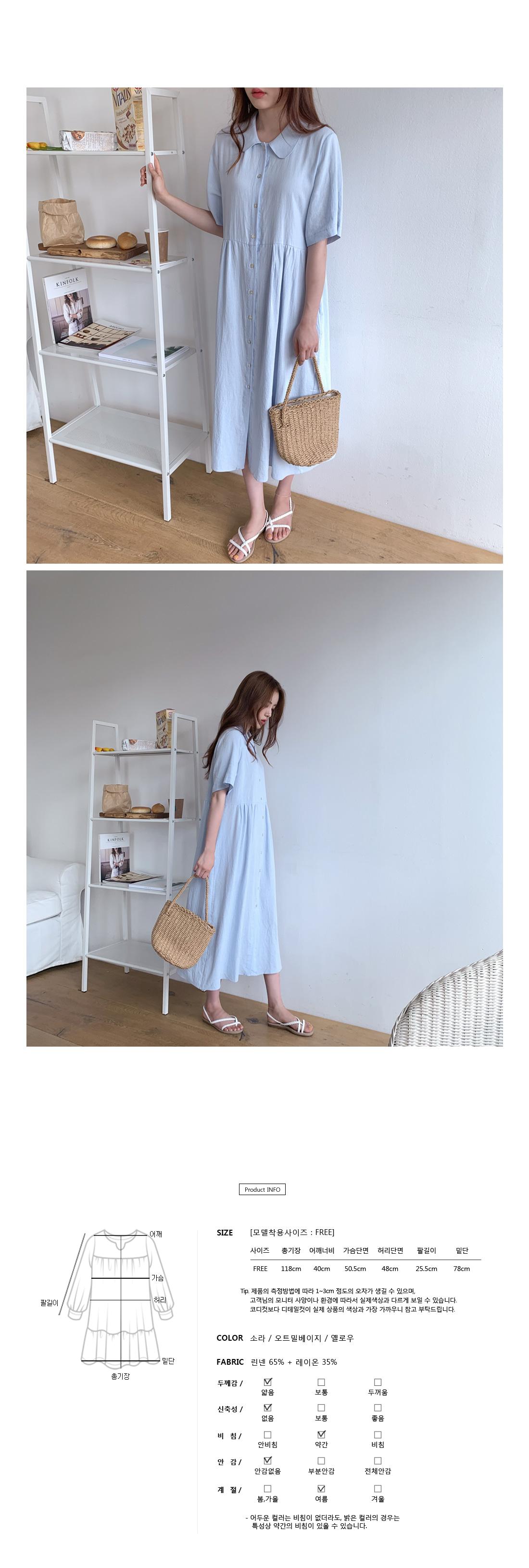 Heaven Linen Long Dress