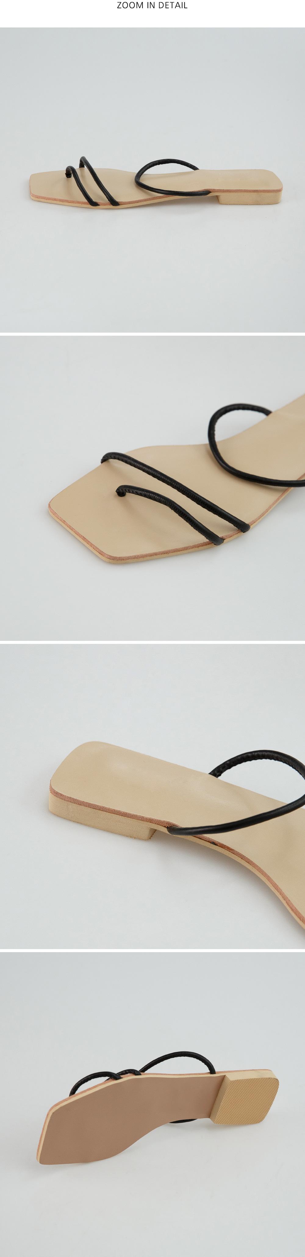 slim strap square slipper