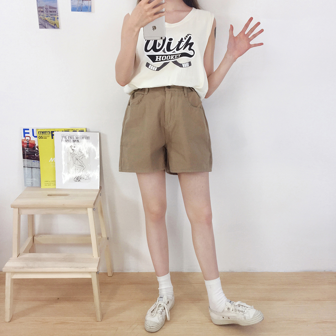 Urban Button Short Pants
