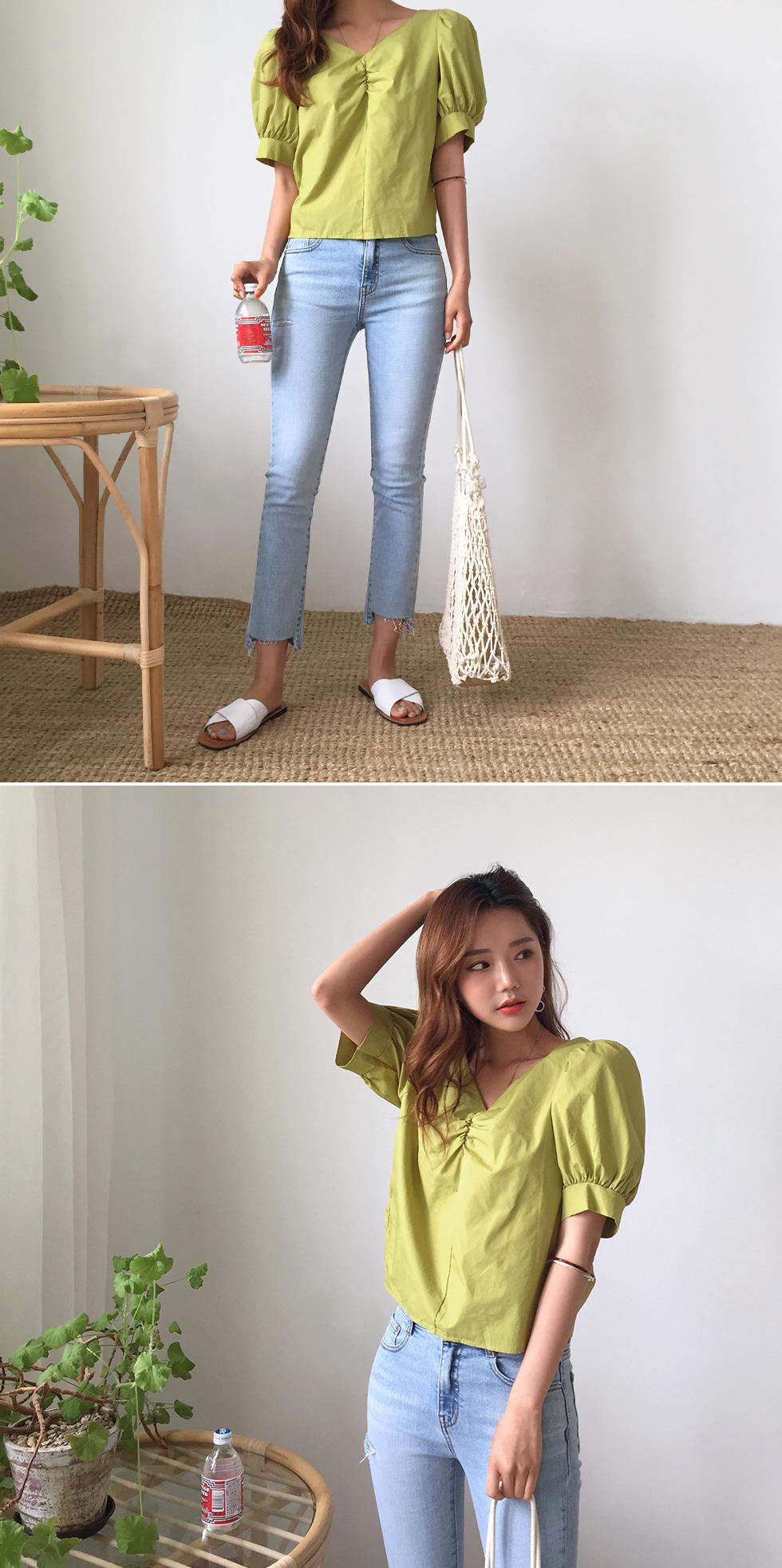 Mango shearing blouse