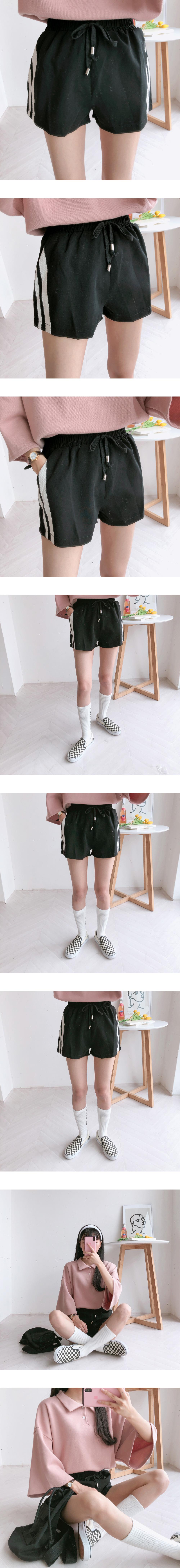 Milky shorts pants