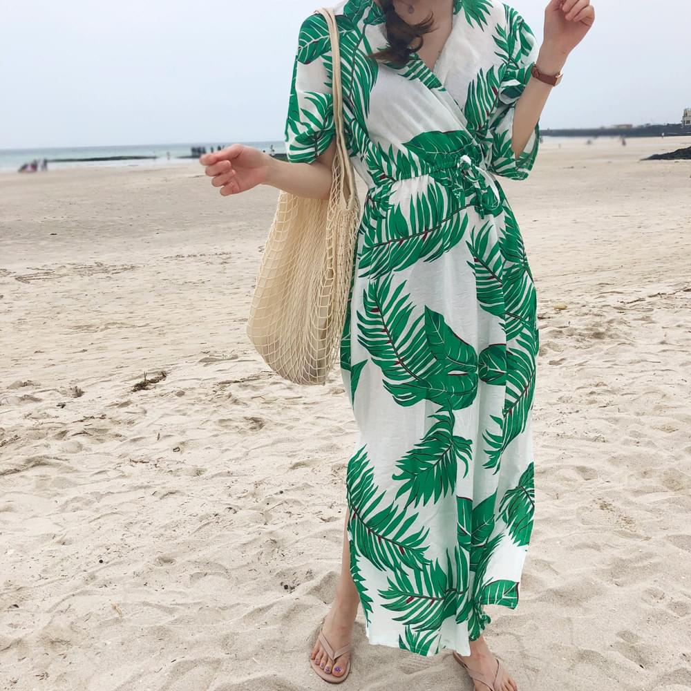 Green palm one piece