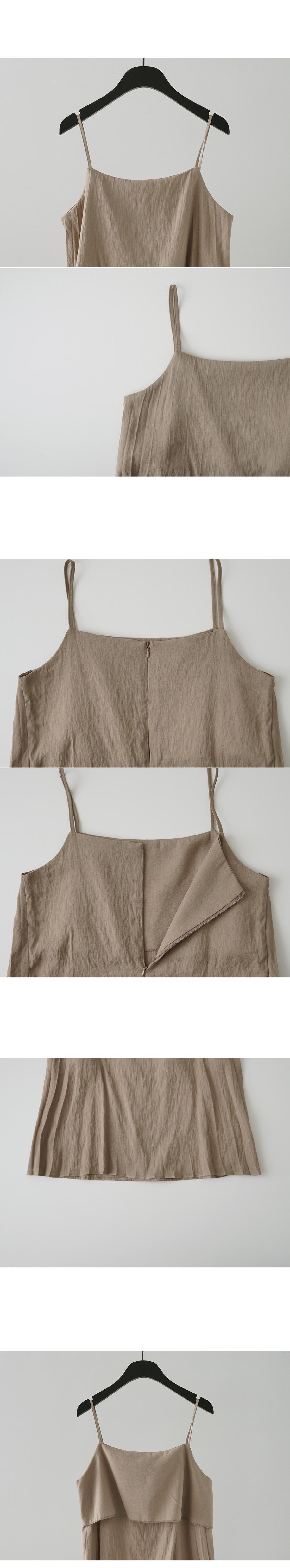 front pleats sleeveless
