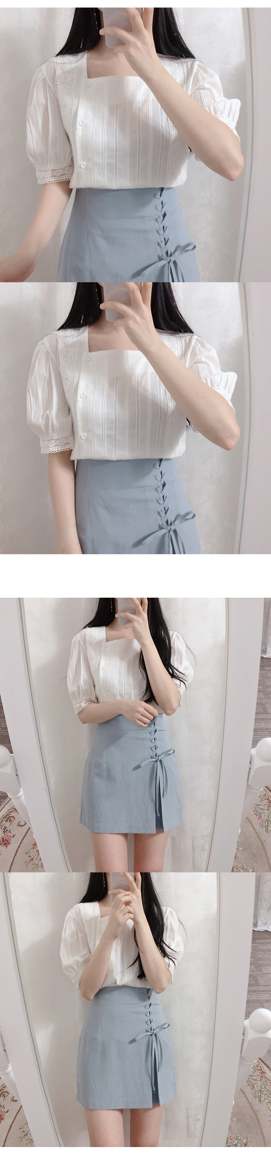 Liang Square race blouse