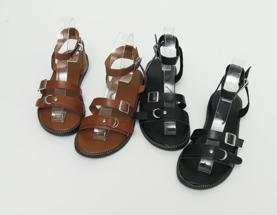 Double strap gladiator sandal_H