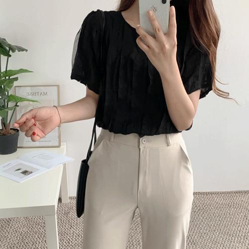 Wave ruffle blouse