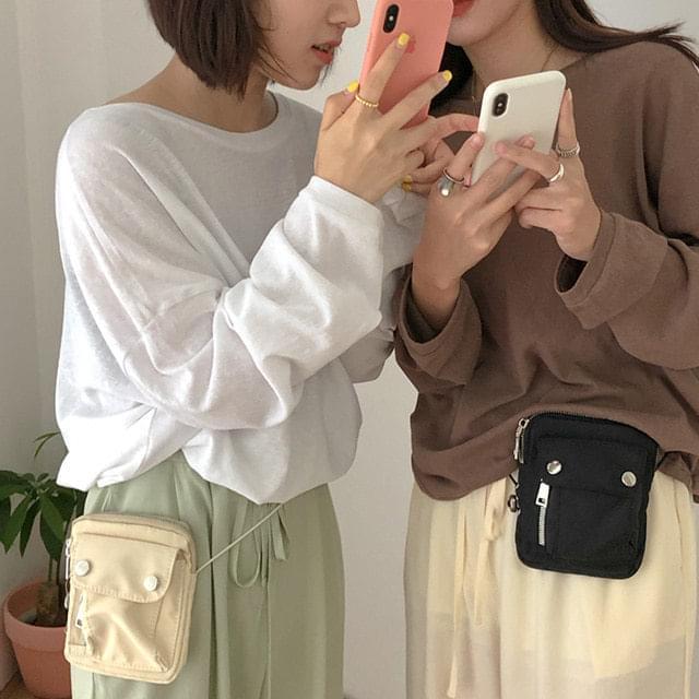 Pocket mini hip & cross bag