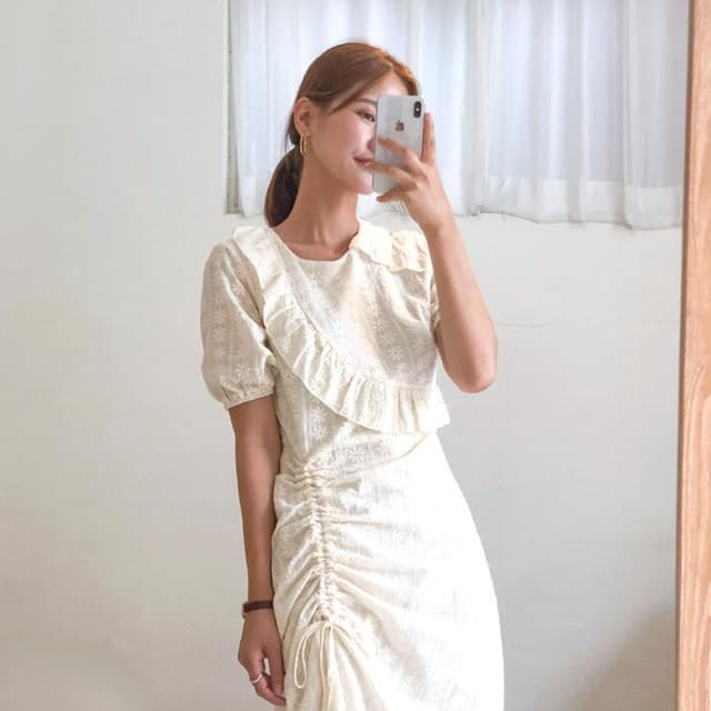 Eileen Rihanna Shirring Long Dress