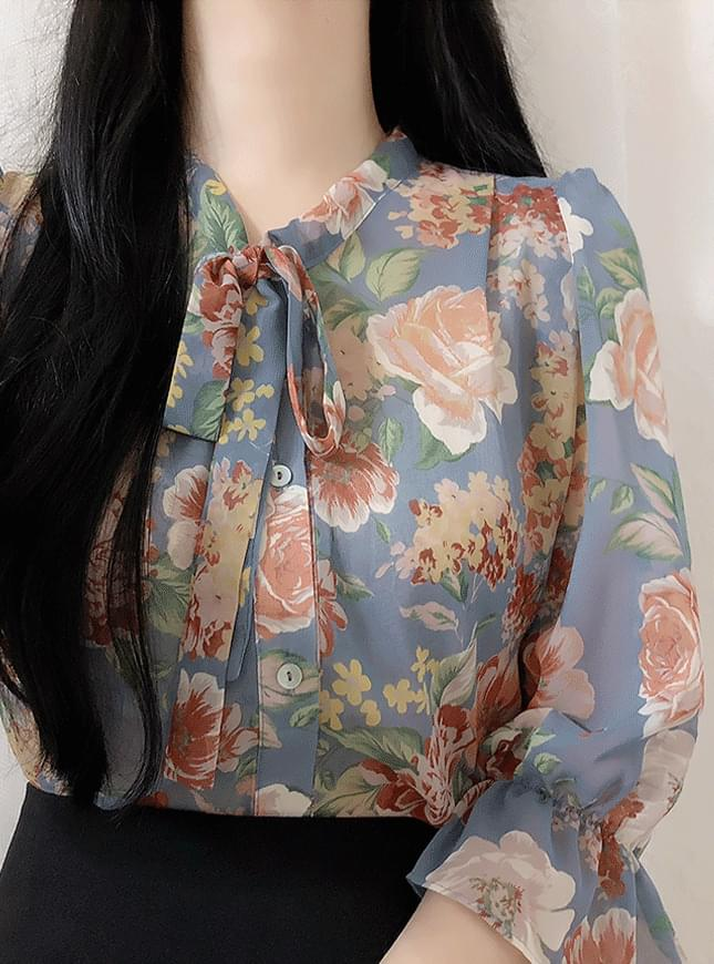 Hershey Flower Ribbon blouse 襯衫