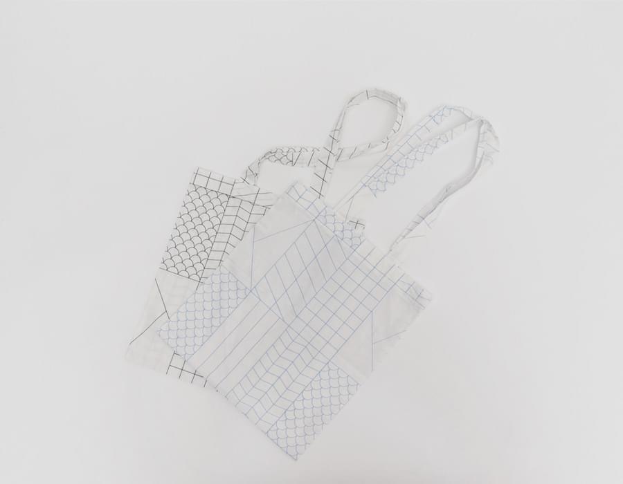 Swish line cotton eco bag_C