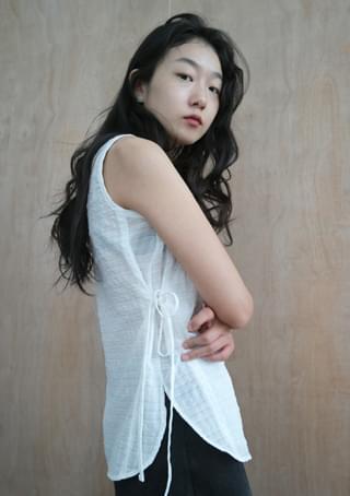 check wrap sleeveless