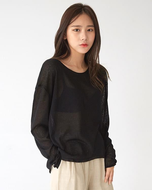 ada see-through knit knitwears