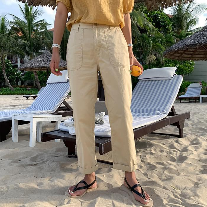 Basak cotton exhaust pants