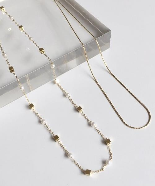 rolly line necklace set