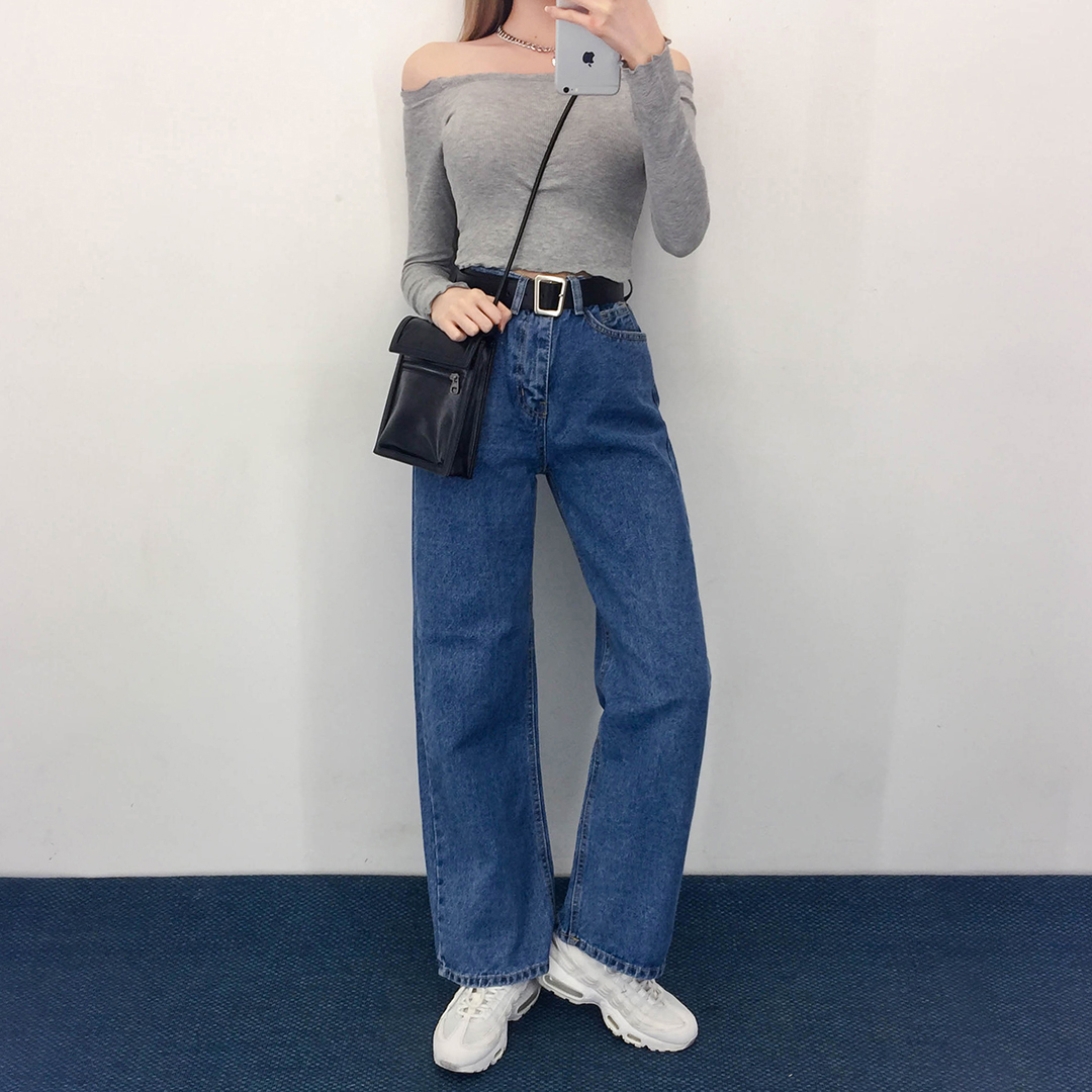 Wavy Cropped Shoulder Polo