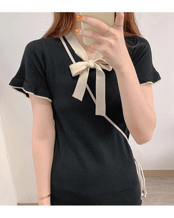 Color Ribbon Mini knit ops-2color