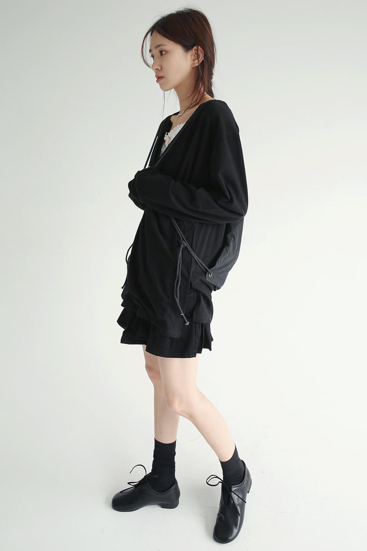 cross wrap top 長袖上衣