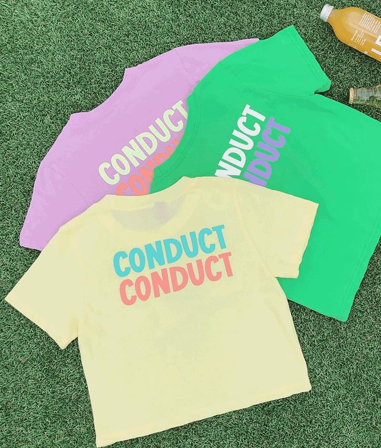 CONDECT CROP T-shirt