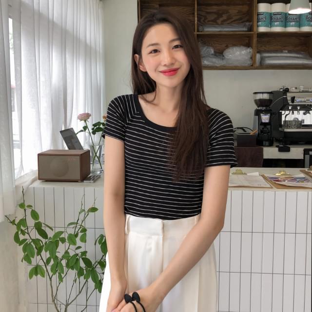Casual Slim Fit Stripe Tee
