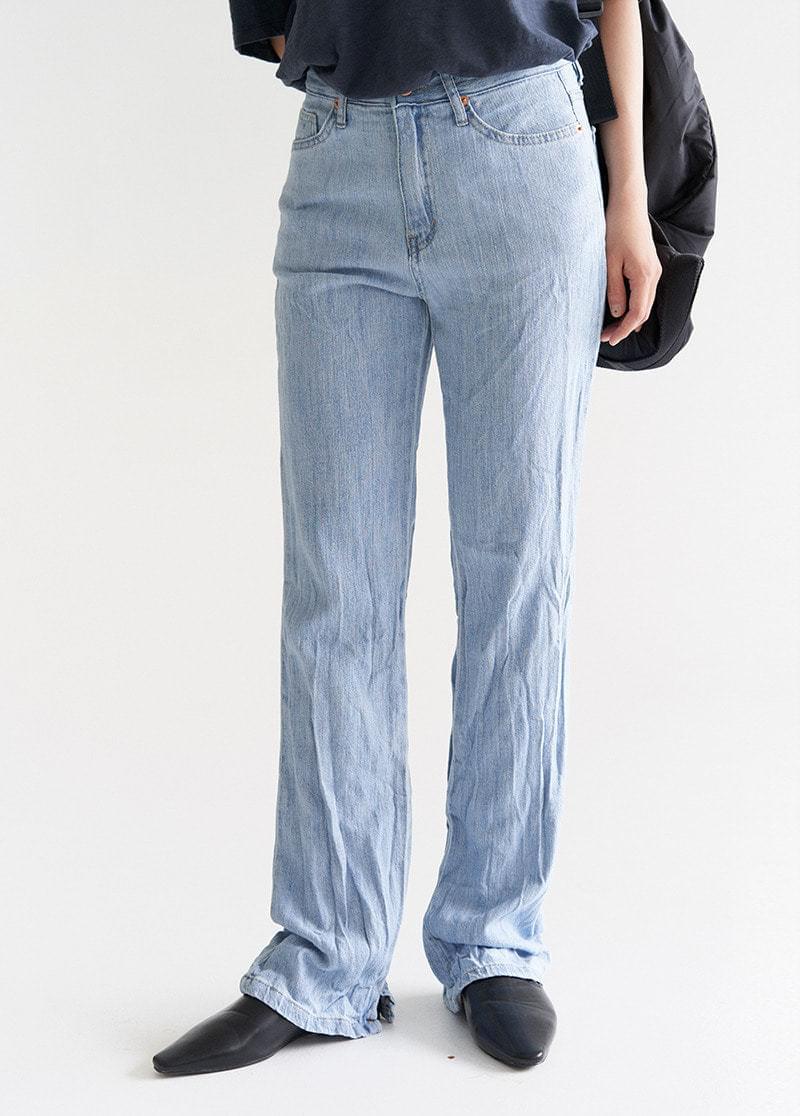 Yuzd Shirring denim pants