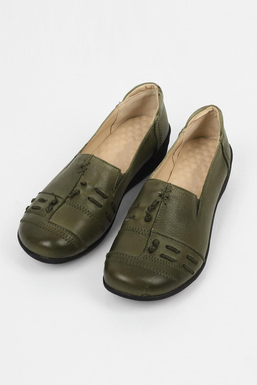 retro shape foam flat shoes (2colors)