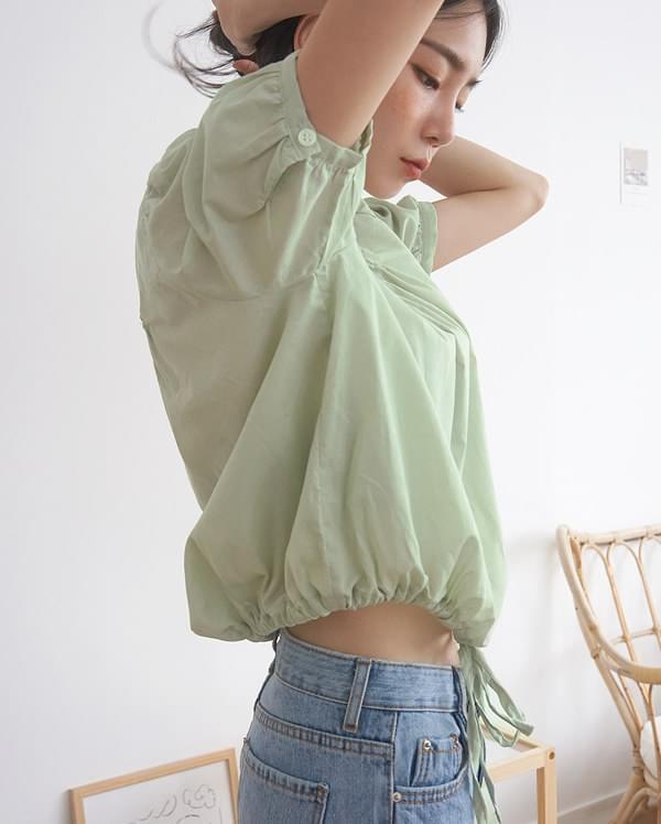pure dean square blouse