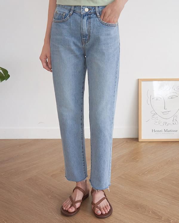 hood straight denim pants (s, m, l)