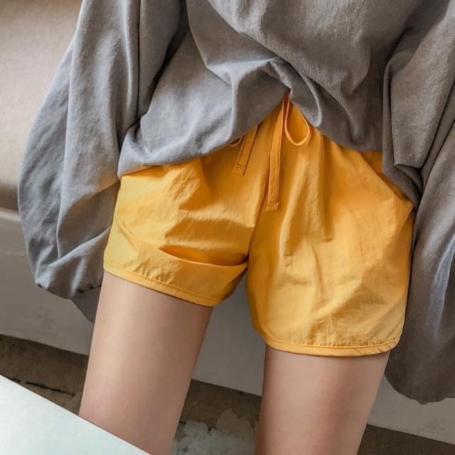 cozy banding short pants
