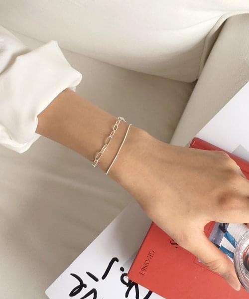 (silver925) long chain bracelet