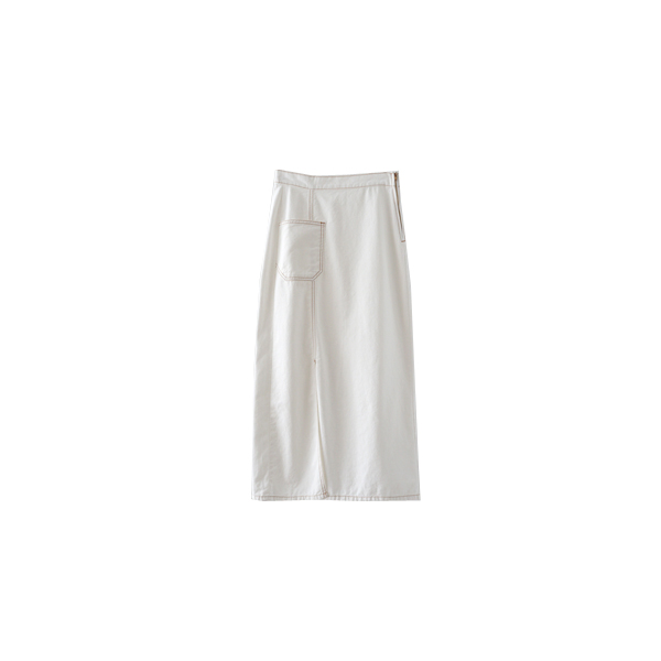 front pocket H-line skirt