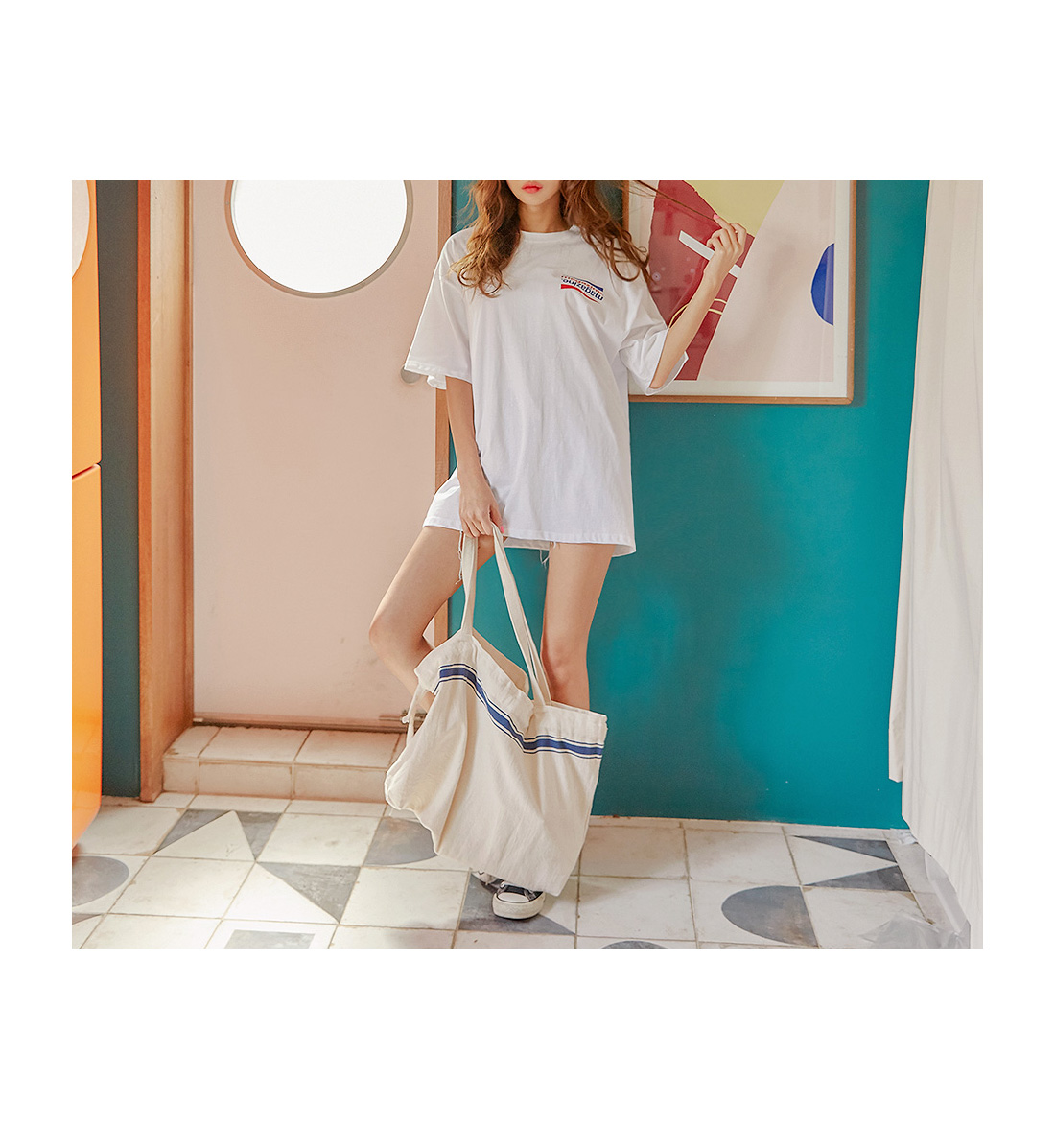 WIKID COLOR POINT BUCKET BAG