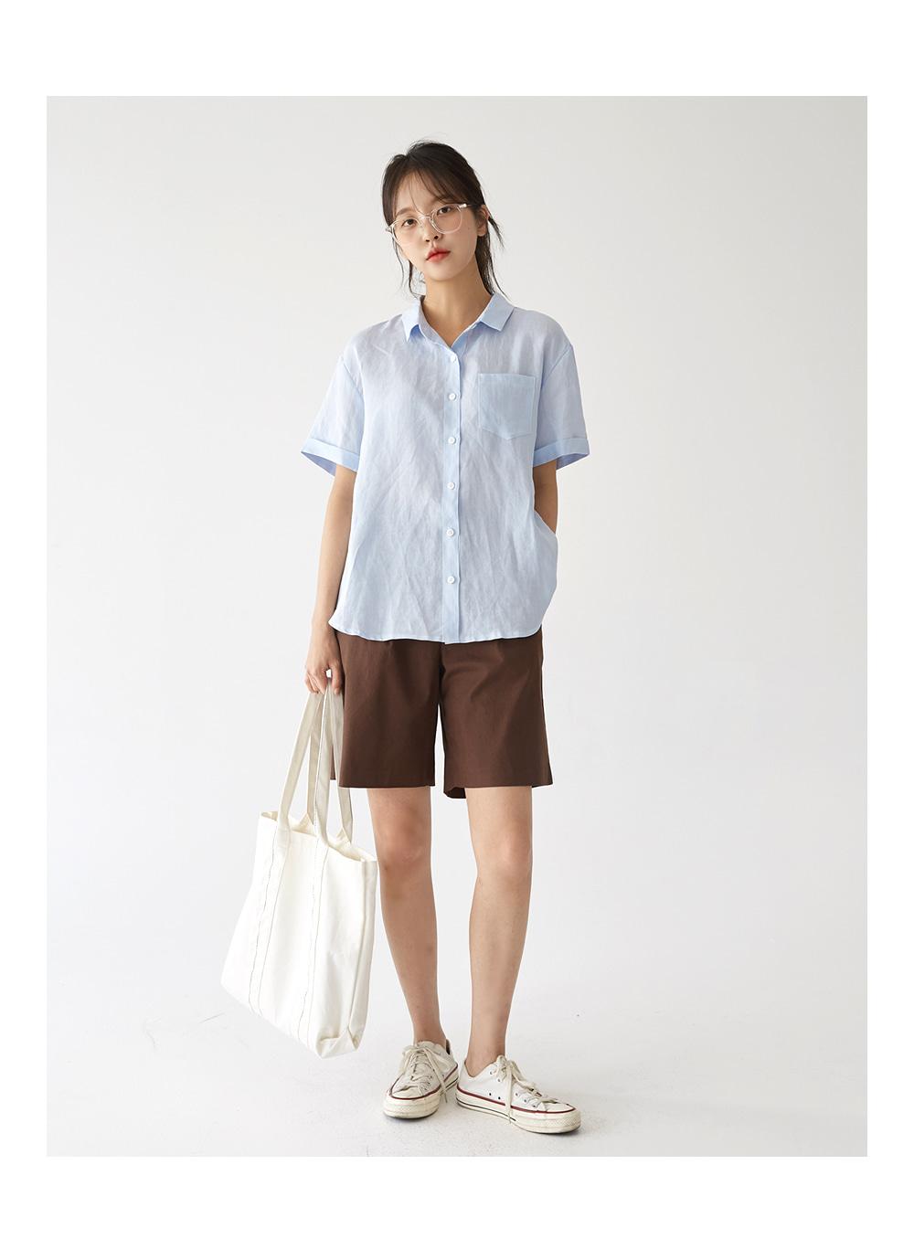 linen daily pocket shirts