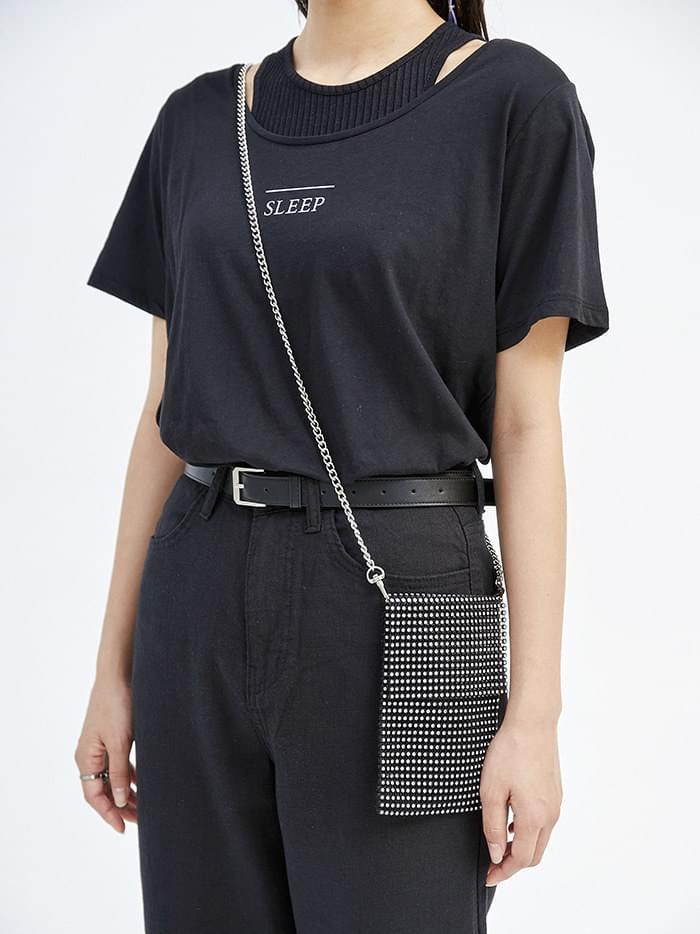crystal mini chain bag (2 color)