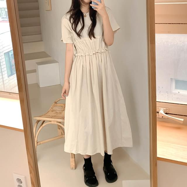 Shirring Laby Long Dress