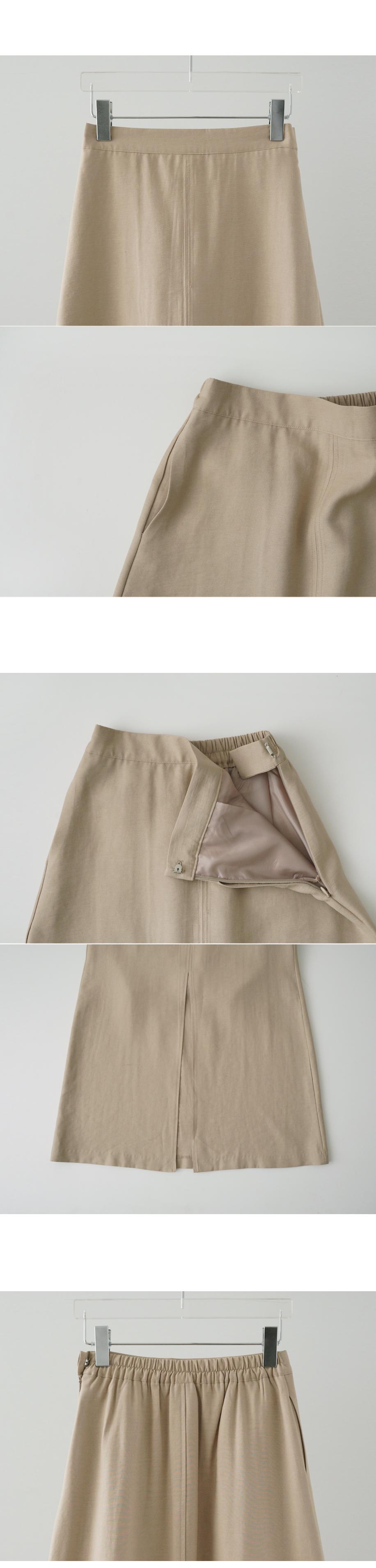 deep slit long skirt