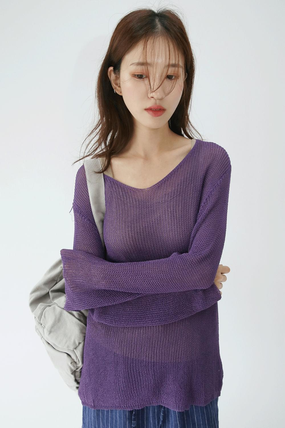net loose glossy knit (2colors)