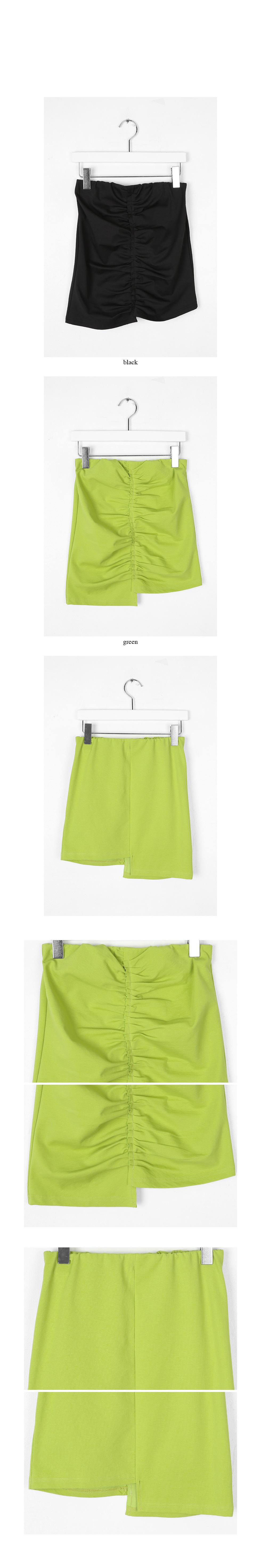 shirring tension banding skirts