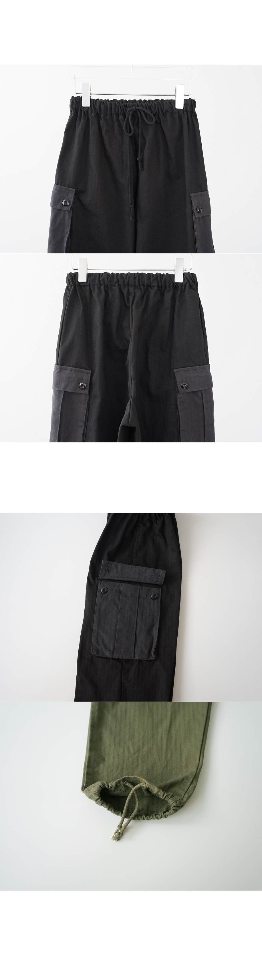 banding pocket cargo pants (2colors)