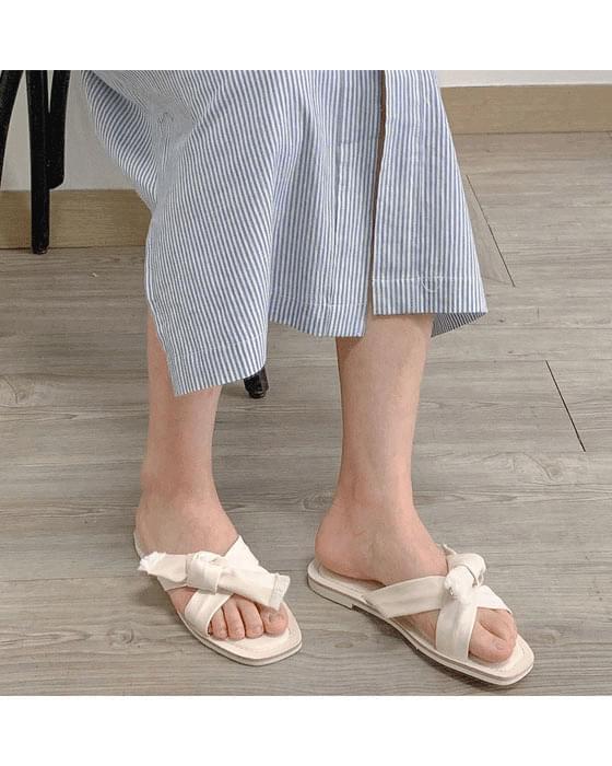 리본 매듭 슬리퍼 shoes - 4color
