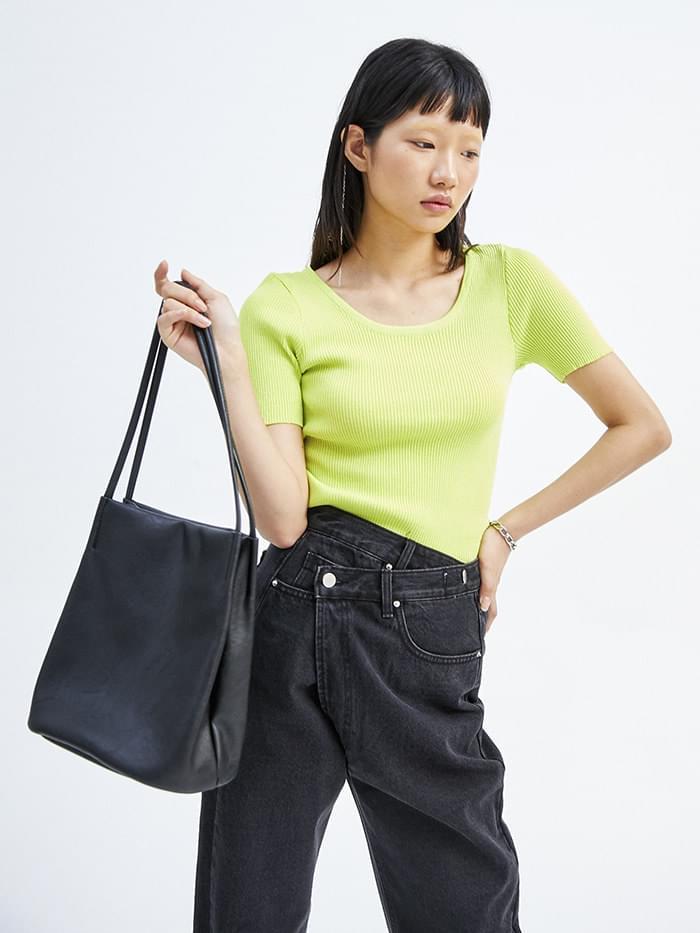 leather shoulder bag (3 color)