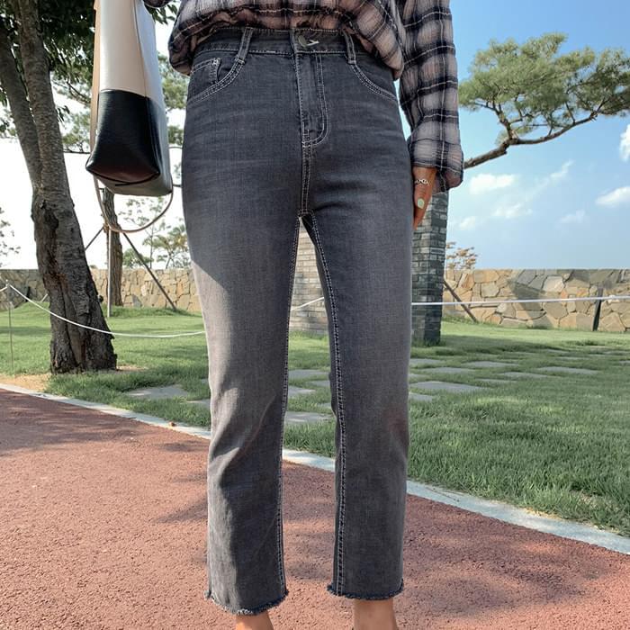 Soft Gray 8.5 Crop Pants