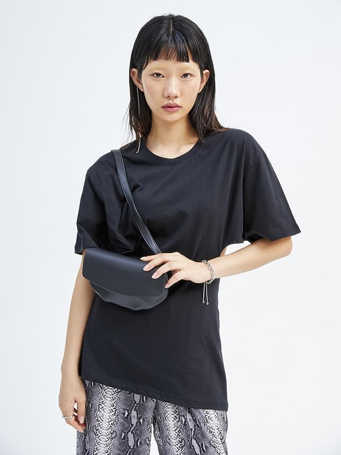 wrinkle leather belt bag (2 color)
