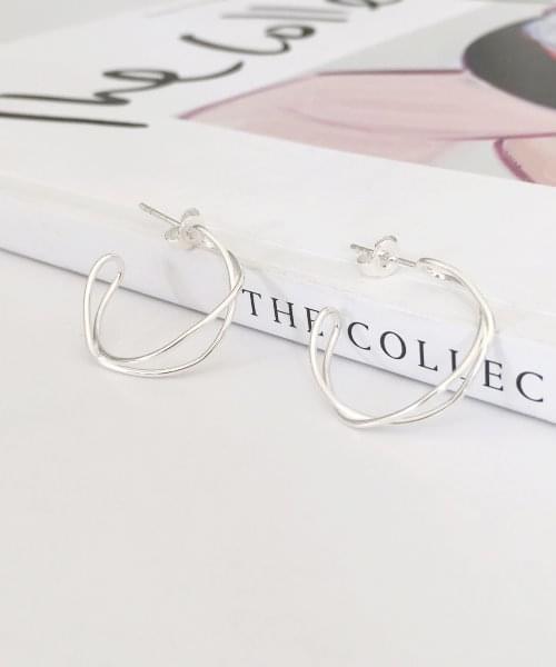 (silver925) madel earring