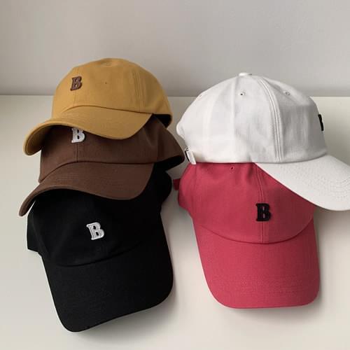 韓國空運 - B字母貼布純棉棒球帽 帽子