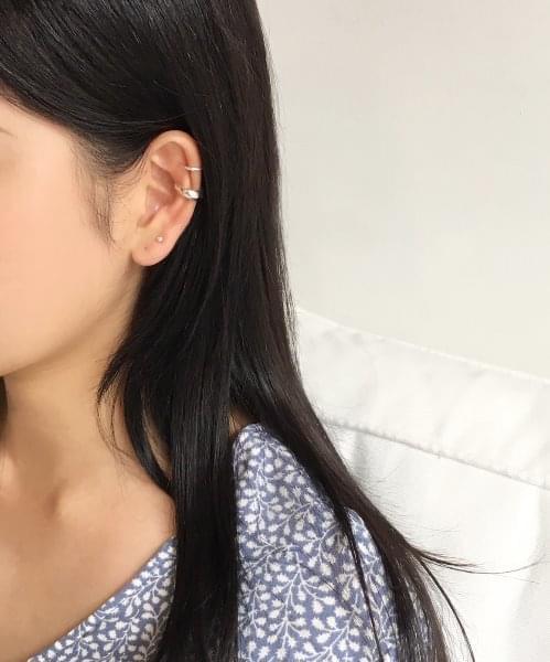 (silver925) half moon earcuff
