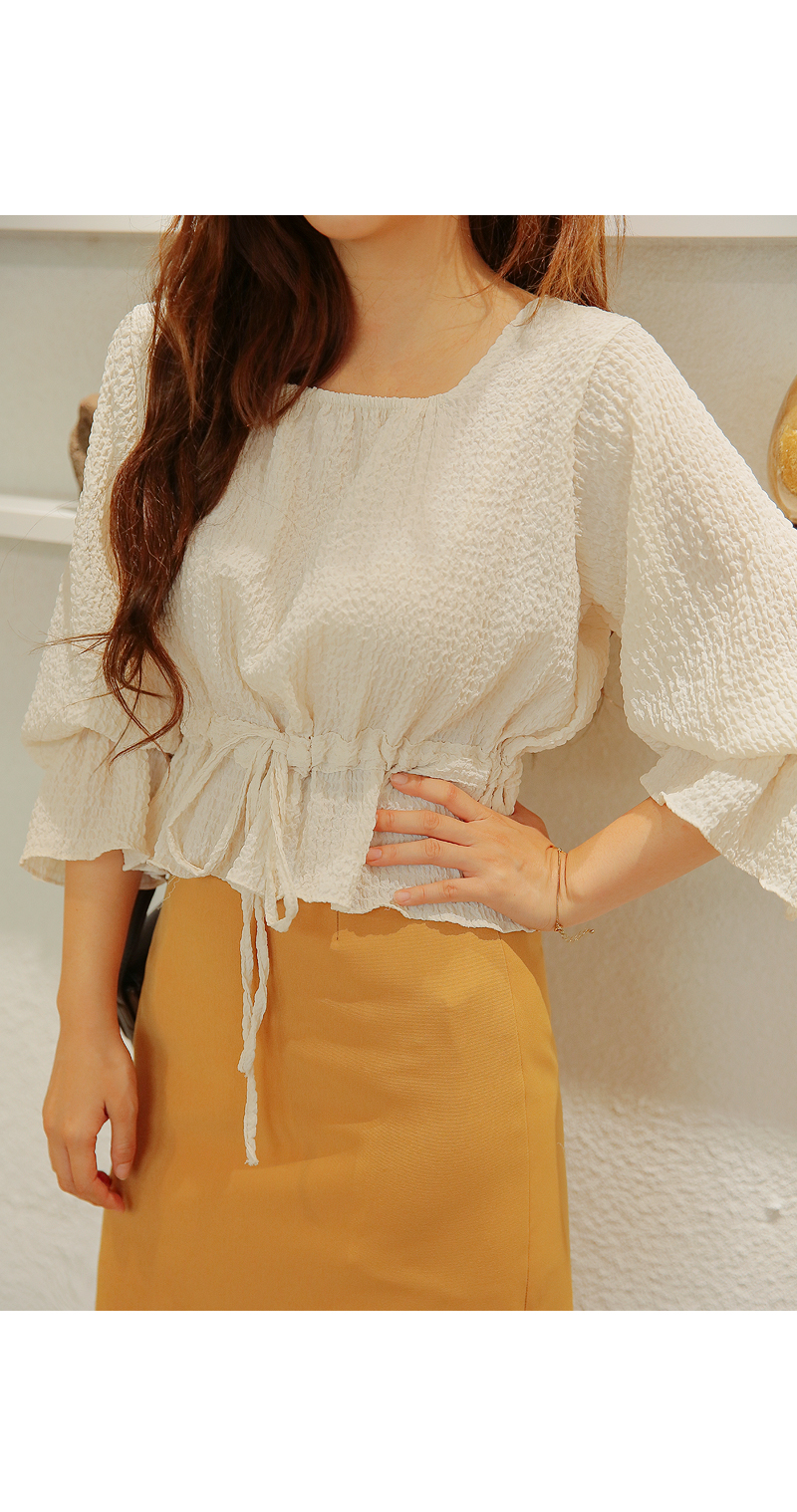 JACE SQUARE STRING CROP BLOUSE