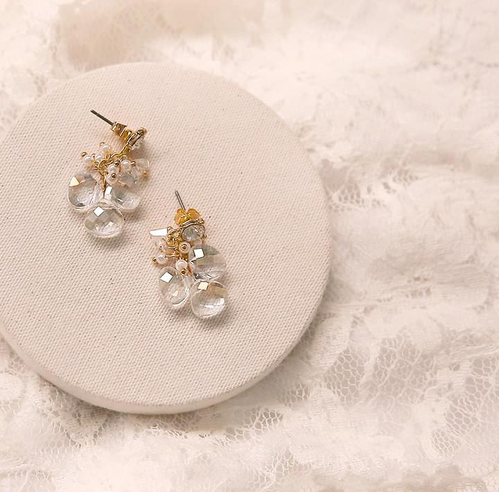 HARMONY CRYSTAL DROP EARRING イヤリング