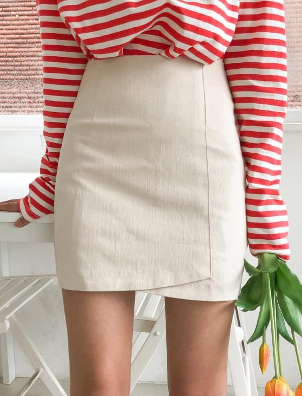 girlish wrap mini skirt